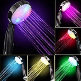 Water Flow Power Generation Gradual Color Changing LED Hand Shower