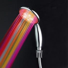 Chrome Finish Multi-color LED Hand Shower