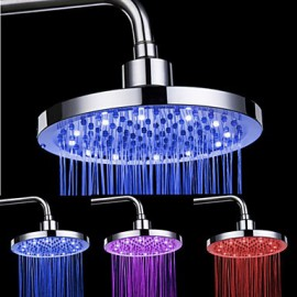 Top Spray Shower Nozzle Color Temperature Control (8 Inch)