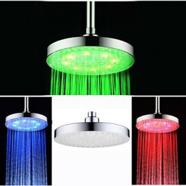 8 Inch Chrome Colorful LED Shower Head Rain Shower