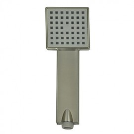 Contemporary Nickel Brushed Finish ABS Square Handle Shower Head