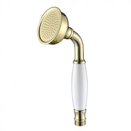 Contemporary Brass Handled Shower Head Ti-PVD Finish