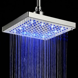 Shower Faucets LED with Chrome Single Handle One Hole