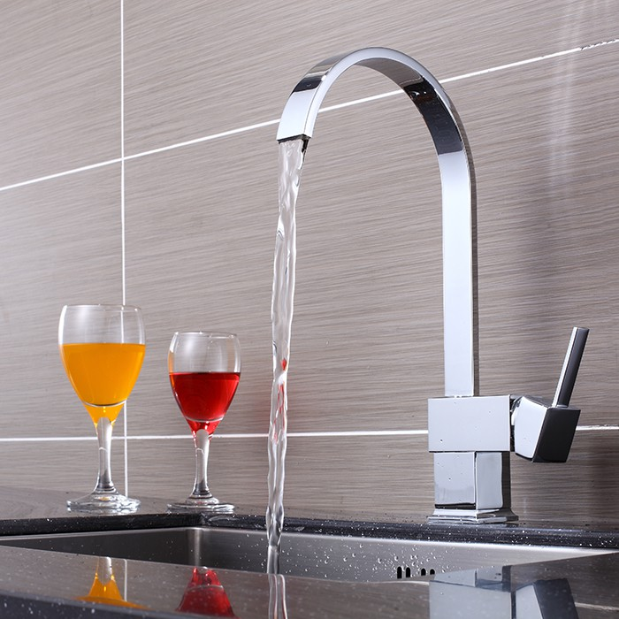 kitchen water faucets deck mounted single handle one with chrome kitchen 13870