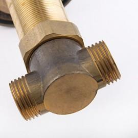 2 Handles Antique Brass Bathroom Basin Mixer Faucet Tap