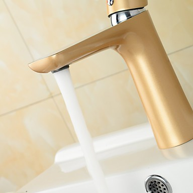 Contemporary Chrome Painting Brass Hot And Cold Single Handle Bathroom Sink Faucet Basin Mixer