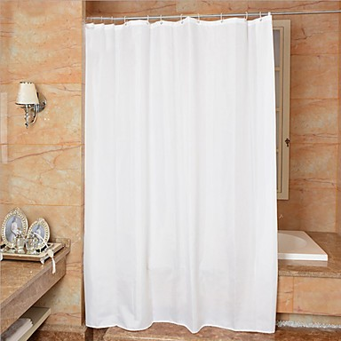 Shower Curtains Neoclassical Polyester Neutral Machine Made
