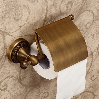Towel Bars 1pc High Quality Antique Brass Toilet Paper Holder