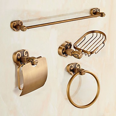 Bathroom Accessory Set 1set Antique Brass Bathroom Accessory Set