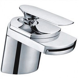 Widespread Single Handle One Hole in Chrome Bathroom Sink Tap