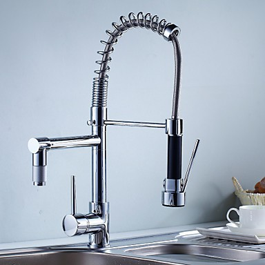 Kitchen Tap Contemporary Pre Rinse Pullout Spray Brass