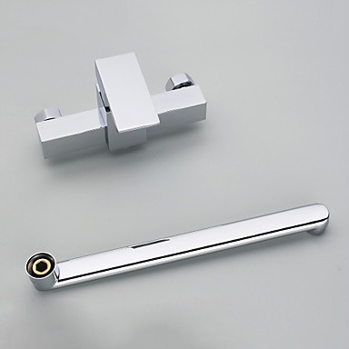 wall mounted single handle two holes with chrome kitchen