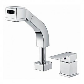 Deck Mounted Single Handle Two Holes with Chrome Kitchen Tap