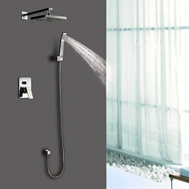 Shower Tap Wall Mount with Chrome Single Handle Four Holes