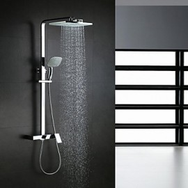 Shower Tap Contemporary Waterfall / Rain Shower / Handshower Included Brass Chrome