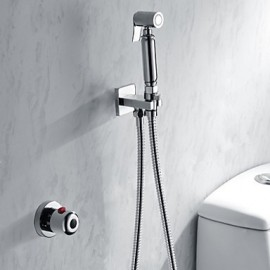 Bathroom/Toilet Handheld Shattaf Bidet Shower Spray, With Thermostatic Tap Valve And 150 cm Stainless Steel Hose