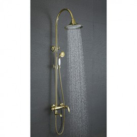 Shower Tap Antique Rain Shower / Handshower Included Brass Ti-PVD