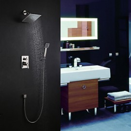 Shower Tap Contemporary Rain Shower / Handshower Included Brass Nickel Brushed