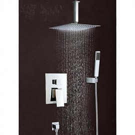 "8""Modern Rain Shower Tap Set Valve Mixer Tap Hand Sprayer Wall Mount"