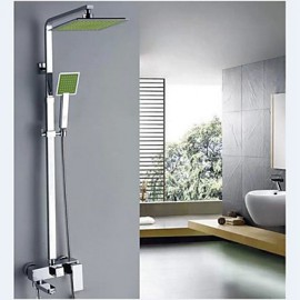 Green Shower Tap Contemporary / Thermostatic / Rain Shower / Handshower Included Brass Chrome