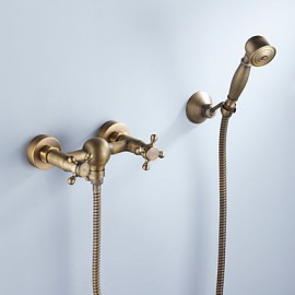 Tub Tap Antique Brass Finish with Hand Shower