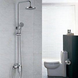 Shower Tap Contemporary Rain Shower / Handshower Included Brass Chrome