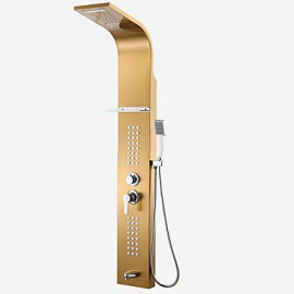 Shower Tap Art Deco/Retro Waterfall / Thermostatic / Rain Shower Stainless Steel Chrome