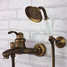 Bathtub Tap Antique Handshower Included Brass Antique Brass