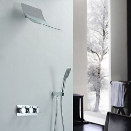 Shower Tap - Contemporary - Waterfall / Handshower Included - Brass (Chrome)