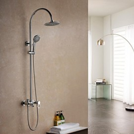 Shower Tap Contemporary Rain Shower Brass Chrome